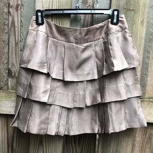 Silly taupe tiered Banana Republic skirt